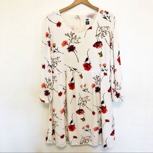 Old navy | white floral print dress size medium